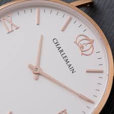 Cultus 36mm Rose Gold & <b>White</b> – <b>Nylon</b> Blue Pink – Charlemain