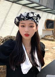 Flower Embroidery <b>Beret</b> Hat | Korean <b>Fashion Accessories</b> - magic ...