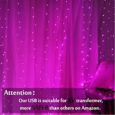 Obrecis Pink <b>Icicle</b> Curtain Lights 300 LED 8 Modes USB <b>Remote</b> ...