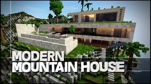 Modern Mountain House Minecraft Creative Showcase Amazing Modern Mountain House Youtube