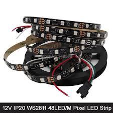 5M <b>12V WS2811</b> Addressable RGB Pixel <b>LED</b> Strip 48LED/M, 1 ...