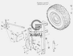 43114-3105810 <b>Держатель запасного колеса</b> для автомобиля ...