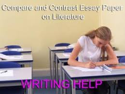 compare and contrast essay paper on literature