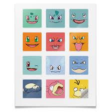 <b>Наклейки квадратные 5</b>×<b>5</b> см Pokemon #2590376 – заказать ...