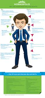 infographic job interview dos and don ts workopolis