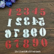 2019 <b>Arabic Numerals Cutting</b> Dies Metal Stencil <b>DIY</b> Scrapbook ...