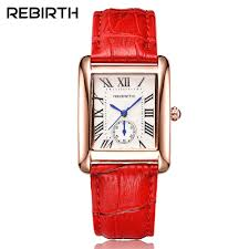 Rectangle Luxury Brand Women's <b>Fashion Watches</b> REBIRTH ...
