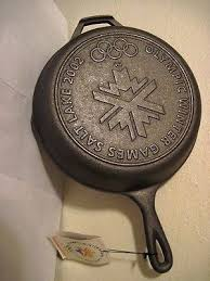 """Lodge Cast Iron 10"""" Skillet <b>Frying Pan</b> – New 2002 Olympic Edition ..."""