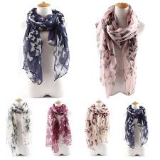 Fashion <b>Women Butterflies</b> Printing Long Soft Wrap Scarf Spring ...