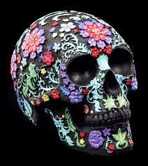 15cm <b>Skull</b> Money Box With <b>Gothic</b> Celtic <b>Pattern Halloween</b> ...