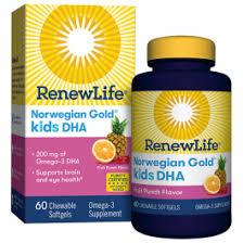 <b>Norwegian Gold Kids</b> DHA Daily Omega-3 Supplement   Renew Life