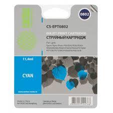 <b>Картридж струйный Cactus CS</b>-<b>EPT0802</b> голубой для Epson ...