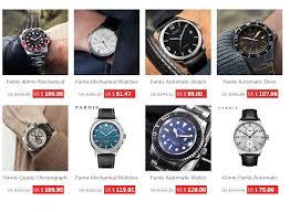 <b>Parnis 41mm</b> Red Blue Bezel Automatic Mechanical <b>Watches Mens</b> ...