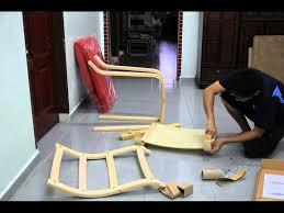 ikea poang armchair youtube assembling ikea chair