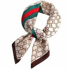 Silk Satin Scarf <b>Women's Fashion Letter</b> Print <b>Square</b> Satin ...