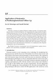 application of proteomics to posttransplantational follow up inside