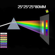 Triangular Color Prism 25*25*80MM <b>Optical</b> Glass Right Angle ...