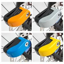 <b>Motorcycle Bicycle Disc</b> Brake Lock Anti-theft Lock Security Yellow