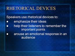persuasion and rhetorical devices nonfiction unit and persuasive    rhetorical devices speakers use rhetorical devices to  emphasize their ideas help their listeners to remember