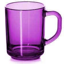"""Стеклянная <b>кружка</b> """"Enjoy"""" фиолетовая, 250 мл - Tea Guide"""
