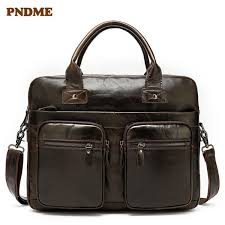 <b>PNDME</b> High Quality Genuine Leather Briefcase <b>Designer</b> Luxury ...