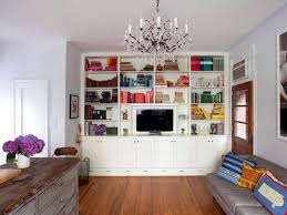 Living Room With Bookcase Decorations Wonderful Living Room With Plaid Brown Creative Wall