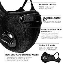 WISREMT <b>Cycling Face Mask</b>, Nylon Spandex <b>Activated</b> Carbon ...