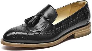 <b>Beau Today</b> Women's Pointed Toes Tassel Leather <b>Loafers</b>