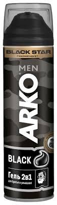 Купить <b>Гель для бритья</b> и умывания Black 2 в 1 Arko, 200 мл по ...