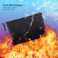 fireproof document fire resistant pouch waterproof bag for money safe bag new a30