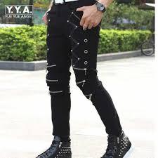 <b>2019 New Arrival Spring</b> Fashion Mens Punk Skinny Pants For Man ...