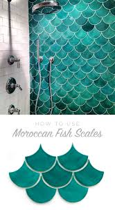 images beach glass sea mermaid money how to use moroccan fish scales for your bath or shower wall unique ti