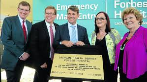 gallery hospital in great health forbes advocate member for orange andrew gee deputy premier troy grant premier mike baird forbes
