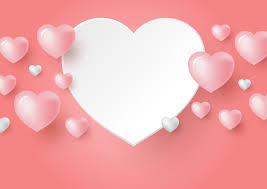 <b>3d</b> hearts on coral <b>color</b> background for <b>valentine's day</b> Vector ...