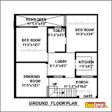 House maps of ft ft  south facing plot   GharExpert comHouse Plan for Feet by Feet plot  Plot Size Square Yards