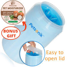 Petsonik Dog Paw Cleaner   Easy to Open Lid, <b>Soft Bristles</b>, Quick ...