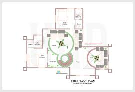 D elevation and plan of bhk luxury house   sq  ft    Kerala        First floor plan of square feet bedroom luxury home design   May