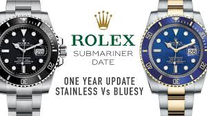Rolex Submariner 1 Year Update and Stainless Steel Vs. <b>Two Tone</b> ...