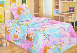 <b>Комплект постельного белья</b> Fun Ecotex <b>Фея</b> и единорог розовый ...