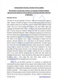 example of a literature review essay Sample Literature Review For Research Paper Review Sample Literature Review from a Quantitative Research Paper