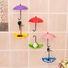 Umbrella Shape Wall Glue Nail-free Hook 3pcs Small Hook ...