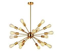 <b>American Country</b> Style Sputnik Chandelier Gold Finish E26 <b>Light</b> ...