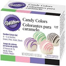 Wilton Candy Colors .25oz 4/PkgPink, Green, Violet ... - Amazon.com