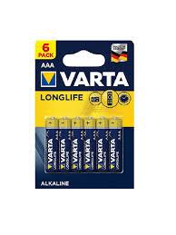 <b>Батарейки VARTA LONGLIFE</b> AAA (6 шт) <b>VARTA</b> 9176279 в ...