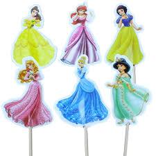 48pcs Pretty <b>Princess Design</b> Cartoon <b>Paper</b> Cupcake Topper ...