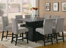 Dining Room Set Counter Height Pub Style Bar High Kitchen Tables Impressive Wooden Bar Stools