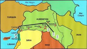 Resultado de imagen para mapa de la guerra del kurdistan y el estado islámico. rusia , EEUU