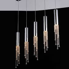 jael 5 light pendant in chrome wclear crystals lighting pendants