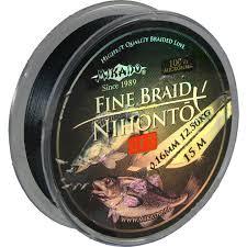 "Шнур плетёный <b>Mikado</b> ""<b>Nihonto Fine</b> Braid Green"" 0,20 мм/15 м ..."