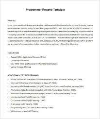 example software programmer resume template free download cnc programmer resume